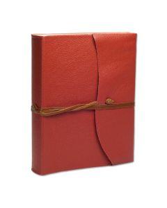 Capri Leather Photo Album Coral