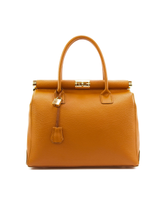 Cortina Leather Bag for Woman Tan