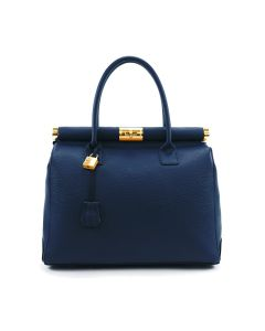 Cortina Leather Bag for Woman Navy