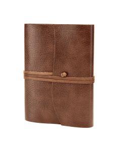 Tivoli Recycled Leather Journal Tan