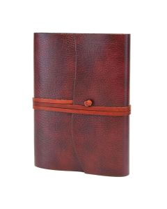Tivoli Recycled Leather Journal Red