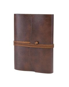 Tivoli Recycled Leather Journal Brown